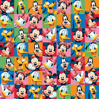 Mickey and Friends 12x12 Scrapbooking Paper