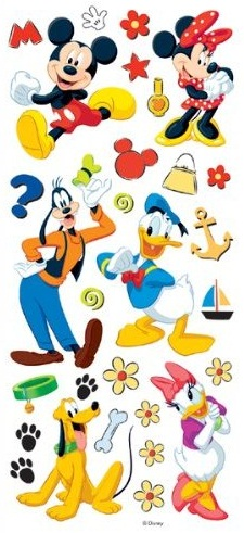 Mickey and Friends Large Scrapbooking Stickers