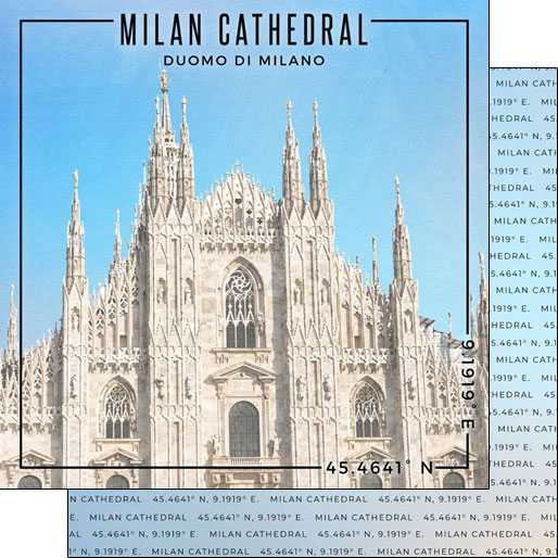 Milan Cathedral 12x12 Double Sided Scrapbooking Paper