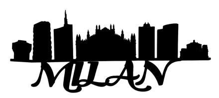 Milan Scrapbooking Laser Cut Title with Skyline