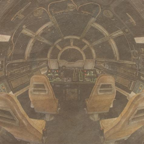 Millennium Falcon Star Wars 12x12 Scrapbooking Paper