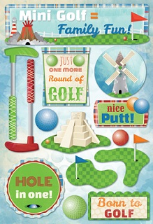 Mini Golf Cardstock Scrapbooking Stickers