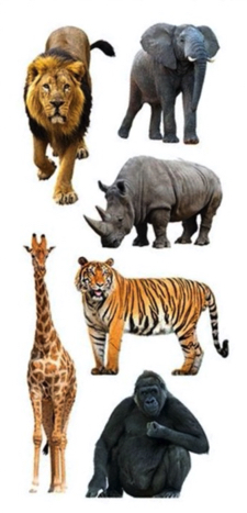 Safari Animals Scrapbooking Mini Stickers