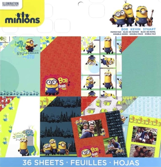 Minions 12x12 Scrapbooking Pad - 36 double sided sheets