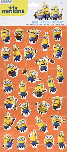 Minions Scrapbooking Stickers