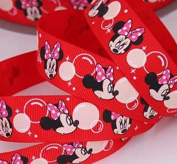 Minnie Mouse Red Self Adhesive Scrapbooking Ribbon