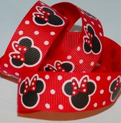 Minnie Mouse Red Polka Dot Self Adhesive Scrapbooking Ribbon