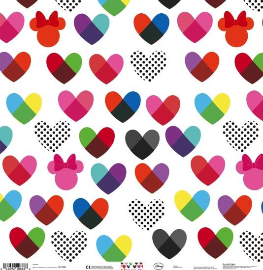 Minnie Hearts 12x12 Scrapbooking Paper