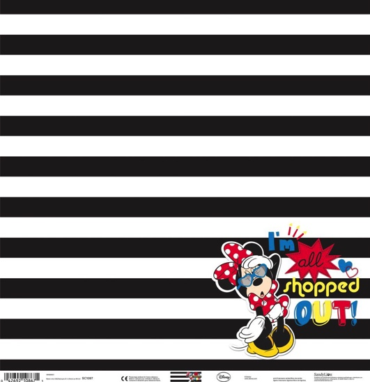 Minnie Mouse All Shopped Out 12x12 Scrapbooking Paper