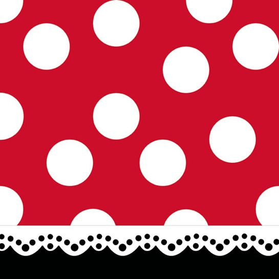 Minnie Mouse Character 12x12 Scrapbooking Paper