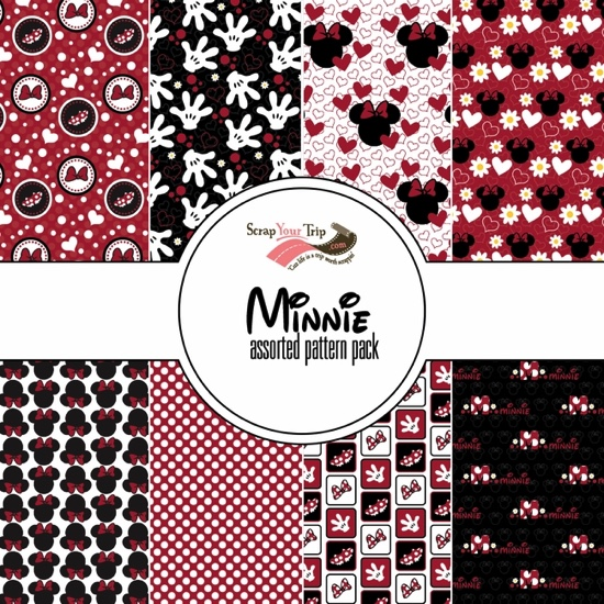 Minnie Mouse 12x12 Scrapbooking Paper Pack