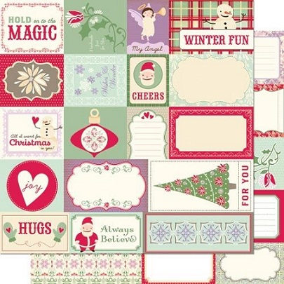 Mitten Weather Elements Double Sided Scrapbooking Paper