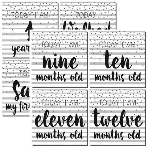 Modern Baby First Year Too 12x12 Double Sided Scrapbooking Paper
