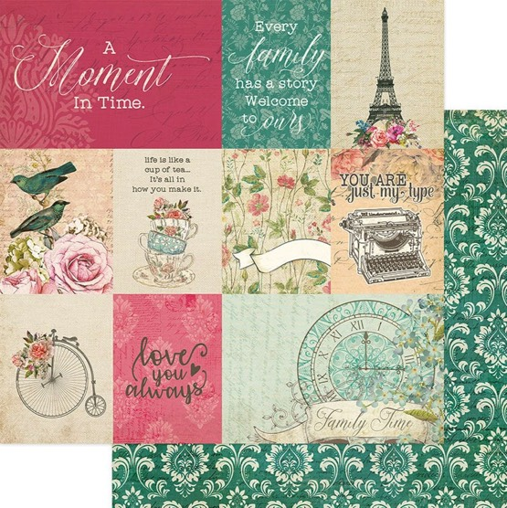 Moments 12x12 Double Sided Scrapbooking Paper