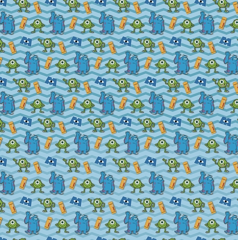 Monster Laugh Floor 12x12 Scrapbooking Paper