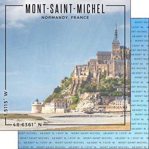 Mont Saint Michel 12x12 Double Sided Scrapbooking Paper