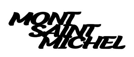 Mont Saint Michel Scrapbooking Laser Cut Title