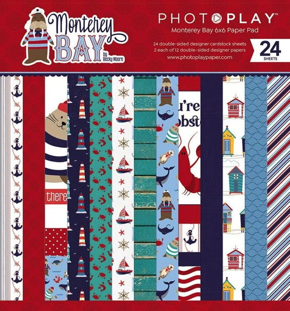 """Monterey Bay Scrapbooking 6"""" x 6"""" Paper Pad - 24 double sided sheets"""