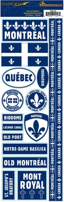 Montreal Cardstock Scrapbooking Stickers and Borders