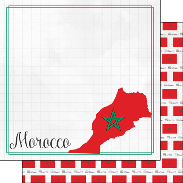 Morocco 12x12 Double Sided Scrapbooking Paper
