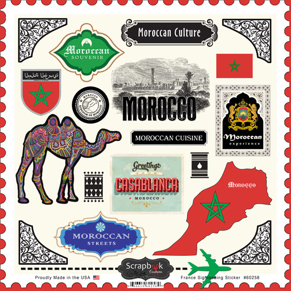 Morocco Sightseeing 12x12 Scrapbooking Stickers
