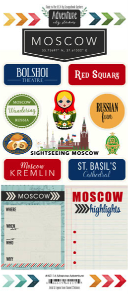 Moscow Adventure Scrapbooking Stickers