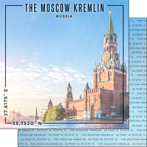 The Kremlin 12x12 Double Sided Scrapbooking Paper