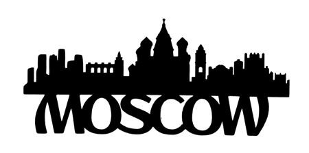 Moscow Scrapbooking Laser Cut Title with Skyline