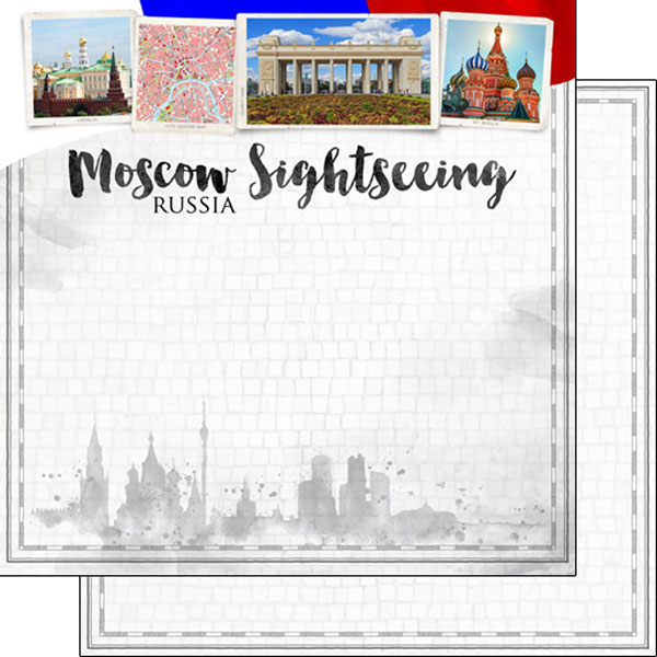 Moscow Sightseeing 12x12 Double Sided Scrapbooking Paper