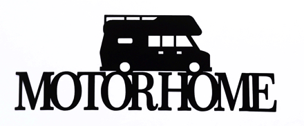 Motorhome Scrapbooking Laser Cut Title with Motorhome