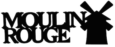 Moulin Rouge Scrapbooking Laser Cut Title with Windmill