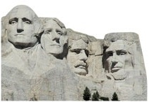 Mount Rushmore Scrapbooking Die Cut