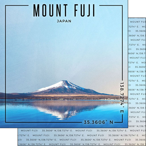 Mount Fuji 12x12 Double Sided Scrapbooking Paper