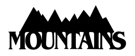 Mountains Scrapbooking Laser Cut Title with mountains