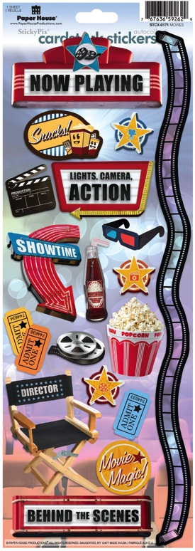 Movies Cardstock Scrapbooking Stickers