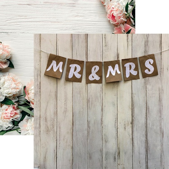 Mr and Mrs 12x12 Double Sided Scrapbooking Paper