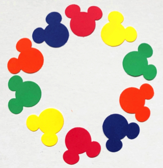 Mickey Mouse Colourful Die Cut Scrapbooking Shapes