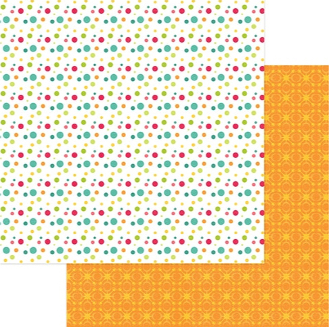 Multi Dot 12x12 Double Sided Scrapbooking Paper