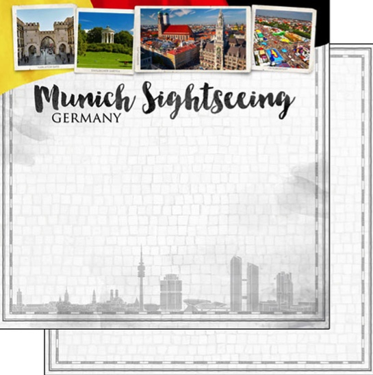 Munich Sightseeing 12x12 Double Sided Scrapbooking Paper