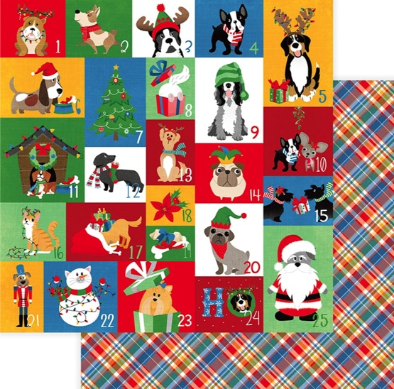 Muttcracker Countdown Double Sided 12x12 Scrapbooking Paper