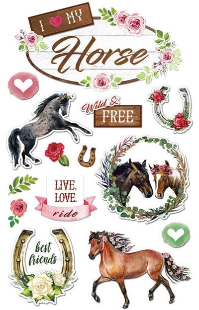 My Horse 3D Scrapbooking Stickers