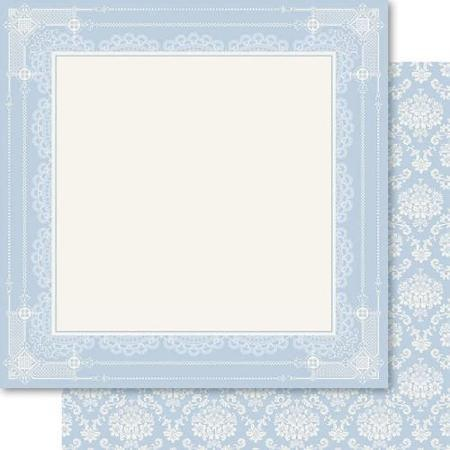 My Romance Frame 12x12 Double Sided Shimmer Scrapbooking Paper