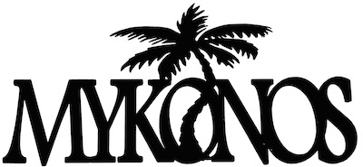 Mykonos Scrapbooking Laser Cut Title with Palm Tree