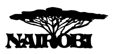 Nairobi Scrapbooking Laser Cut Title with Tree