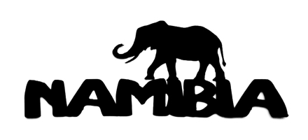 Namibia Scrapbooking Laser Cut Title with Elephant