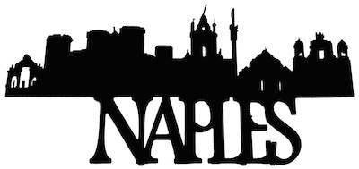 Naples Scrapbooking Laser Cut Title with Skyline