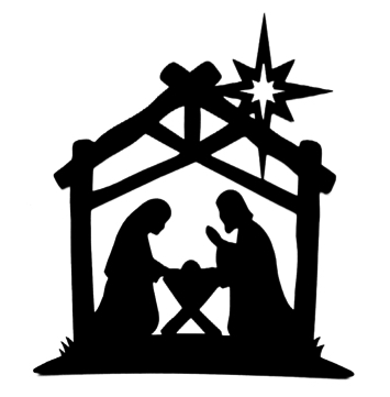 Nativity Scene Intricate Scrapbooking Laser Cut with Star