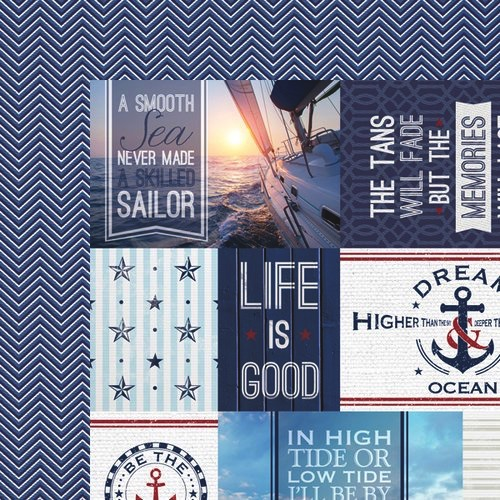 Nautical Tags 12x12 Double Sided Scrapbooking Paper