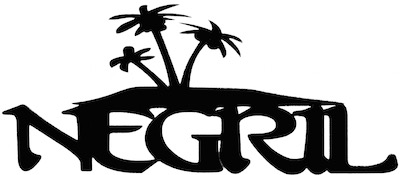 Negril Scrapbooking Laser Cut Title with Palm Trees