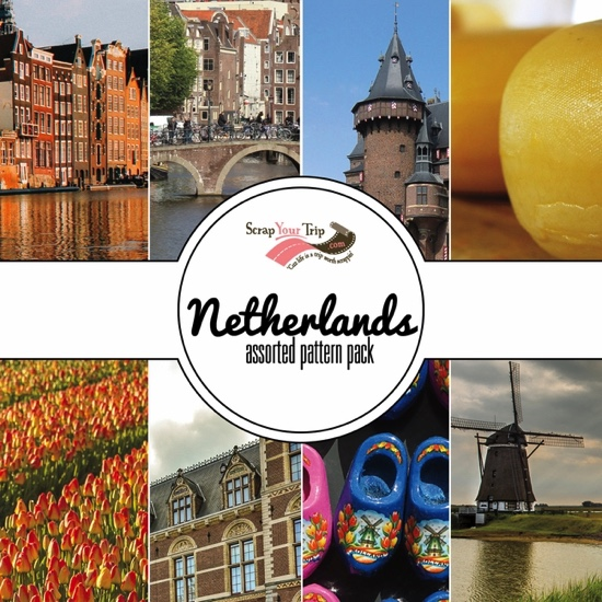 The Netherlands 12x12 Scrapbooking Paper Pack